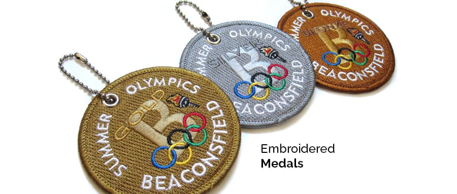 embroidered medals crest