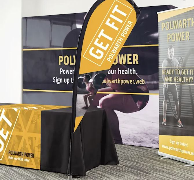 tradeshow display flags